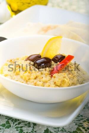 Vers eigengemaakt schotel voedsel tabel Stockfoto © keko64