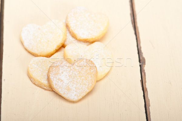 Stock photo: heart shaped shortbread valentine cookies