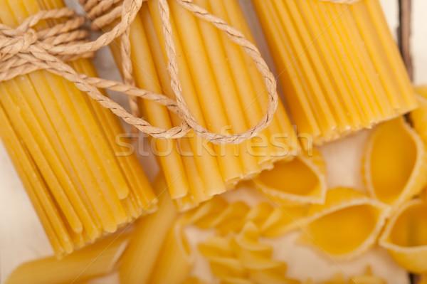 Monte italiano macarrão tipo branco rústico Foto stock © keko64