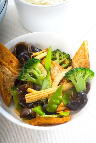 Tofu legumes fresco saudável típico Foto stock © keko64