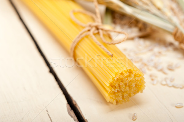 organic Raw italian pasta and durum wheat  Stock photo © keko64