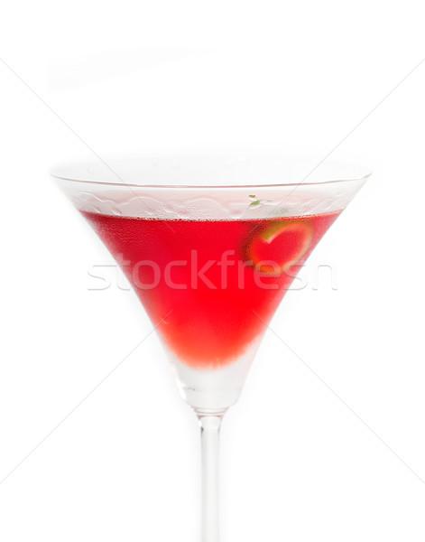 Kozmopolita ital koktél egyenes felfelé martini Stock fotó © keko64