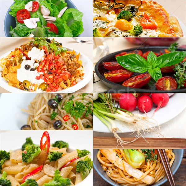 healthy Vegetarian vegan food collage Stock photo © keko64