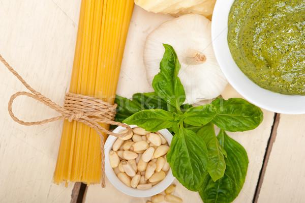 Сток-фото: итальянский · традиционный · базилик · пасты · Ингредиенты