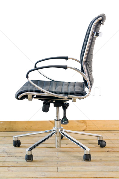 modern black leather office chair Stock photo © keko64