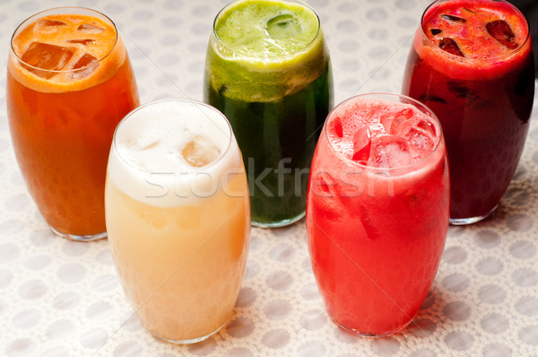 selection of fruits long drinks Stock photo © keko64