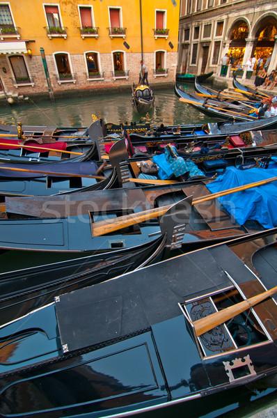 Velence Olaszország csatorna híres csónak víz Stock fotó © keko64