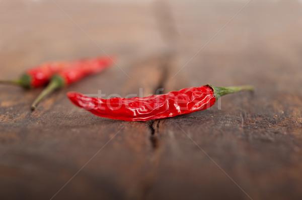 dry red chili peppers  Stock photo © keko64