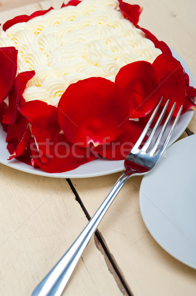 whipped cream mango cake Stock photo © keko64