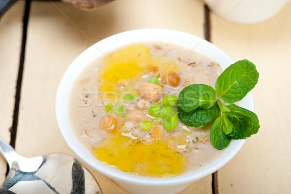 Jęczmień zupa mięty pozostawia górę Zdjęcia stock © keko64