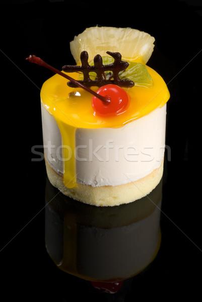 作品 フルーツケーキ 新鮮果物 ケーキ 黒 ストックフォト © keko64