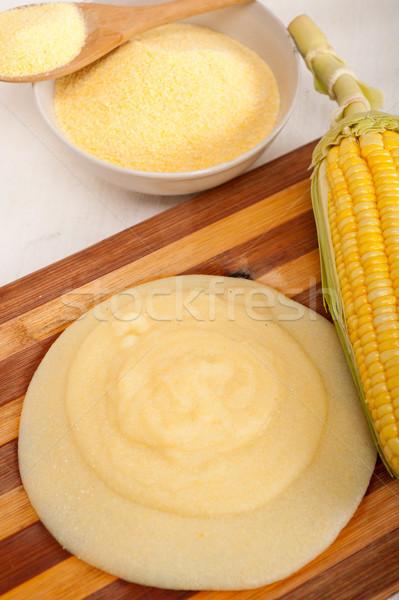 polenta corn maize flour cream Stock photo © keko64
