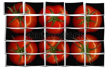 red paprika collage Stock photo © keko64