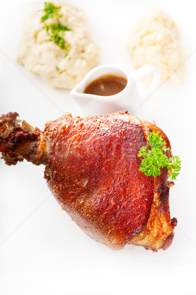 original German BBQ pork  knuckle Stock photo © keko64