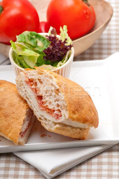 Панини сэндвич ветчиной томатный итальянский продовольствие Сток-фото © keko64