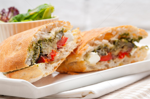 Panini légumes feta italien alimentaire Photo stock © keko64