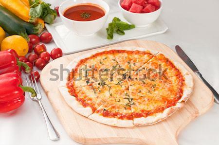 Italian original thin crust pizza Stock photo © keko64