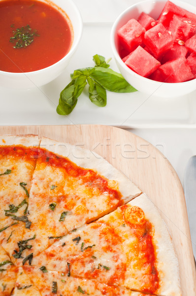 Italian original thin crust pizza Stock photo © keko64