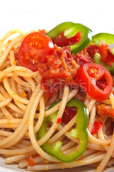 пряный итальянский пасты томатный соус Сток-фото © keko64