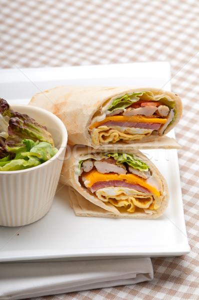 club sandwich pita bread roll Stock photo © keko64