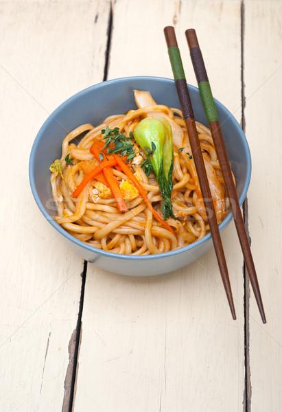 Mano ramen cinese ciotola Foto d'archivio © keko64