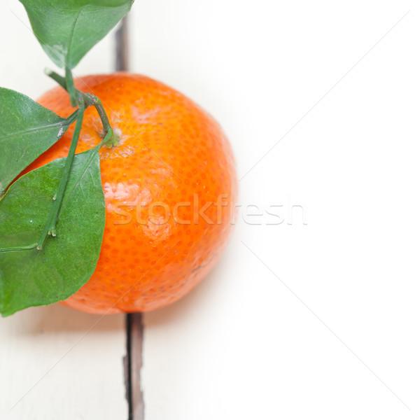 Mandarin orange blanche table rustique Photo stock © keko64