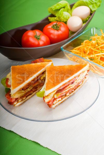 Klub szendvics friss finom klasszikus átlátszó üveg Stock fotó © keko64