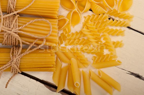 Bos Italiaans pasta type witte rustiek Stockfoto © keko64