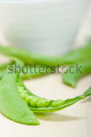 新鮮な 緑 エンドウ 素朴な テクスチャ ストックフォト © keko64