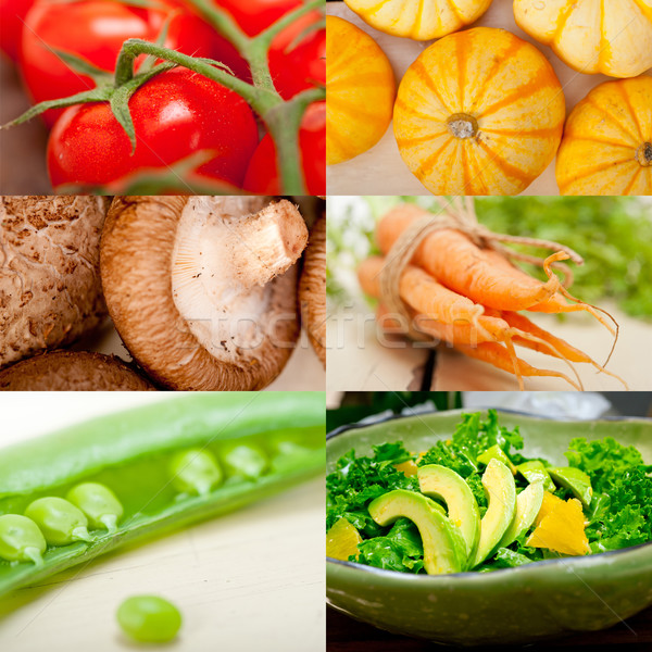 hearthy vegetables collage composition  Stock photo © keko64