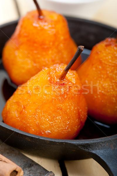 poached pears delicious home made recipe  Stock photo © keko64