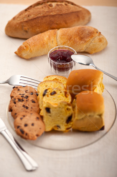 bread butter and jam  Stock photo © keko64