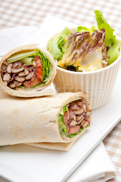 Stockfoto: Kip · pita · rollen · sandwich · traditioneel