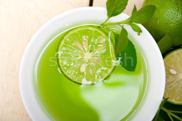 De infusão chá cal fresco saudável Foto stock © keko64
