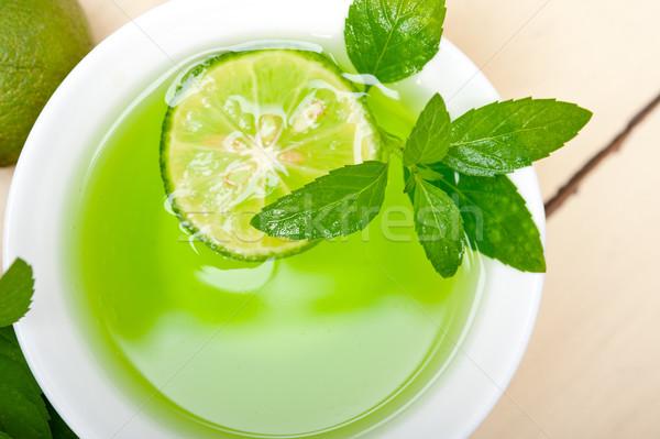 Menta infusión té cal frescos saludable Foto stock © keko64