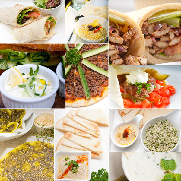 Arab middle eastern food collage  Stock photo © keko64