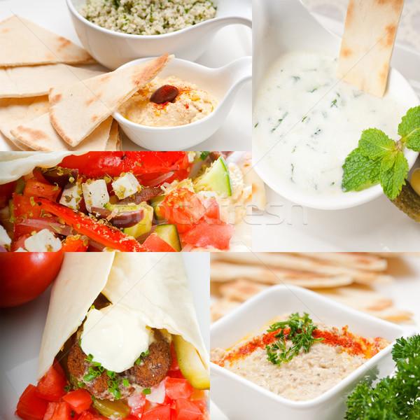 Arab Közel-Kelet étel gyűjtemény népszerű főiskola Stock fotó © keko64