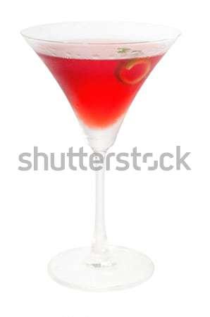 Martini cóctel aislado blanco recto hasta Foto stock © keko64