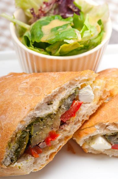Panini warzyw feta włoski żywności Zdjęcia stock © keko64