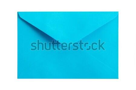 Blau Umschlag rot weiß Büro Stock foto © kenishirotie