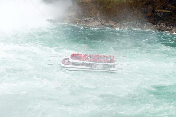 Crociera caduta cascata nave da crociera natura viaggio Foto d'archivio © kenishirotie