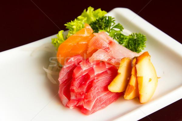 Sashimi cibo giapponese salmone tonno polpo Foto d'archivio © kenishirotie