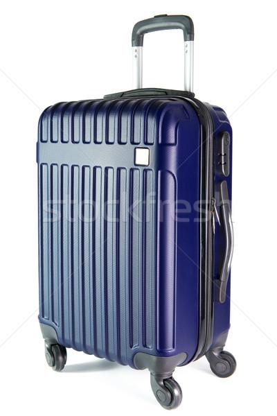 Blauw reizen bagage geïsoleerd witte kleur Stockfoto © kenishirotie