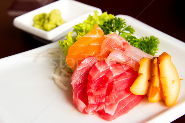 Sashimi saumon thon poulpe Photo stock © kenishirotie