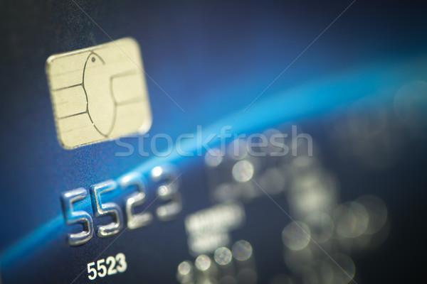 Makro erschossen Kreditkarte smart Chip Stock foto © kenishirotie
