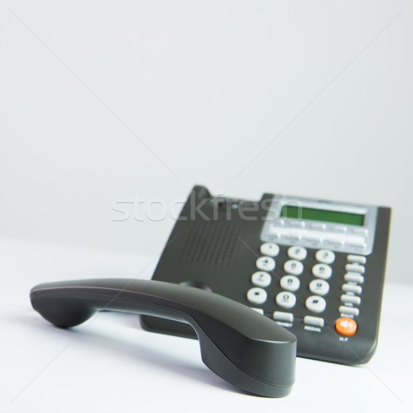 オフィス 電話 現代 グレー 色 デスク ストックフォト © kenishirotie