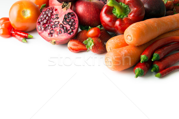 Red vegetable and fruit Stock photo © kenishirotie