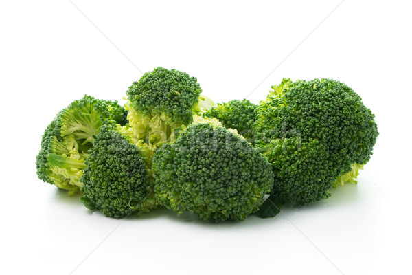 Brocoli isolé blanche brut légumes fond Photo stock © kenishirotie