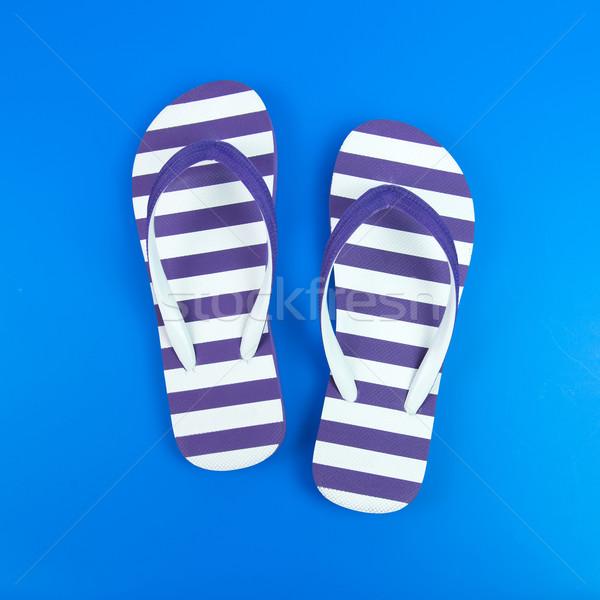 Purple striped sandal Stock photo © kenishirotie