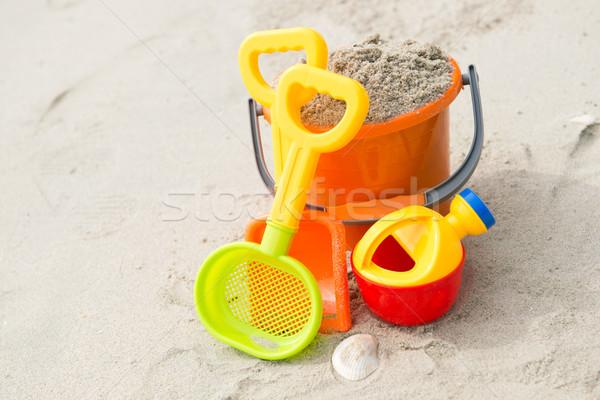 Photo stock: Jouets · plage · coloré · été · plage · de · sable · orange
